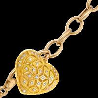 Bracelet coeur or jaune
