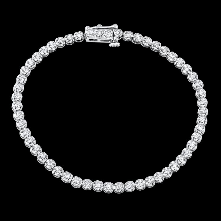 White Gold Bracelet For Women Tennis