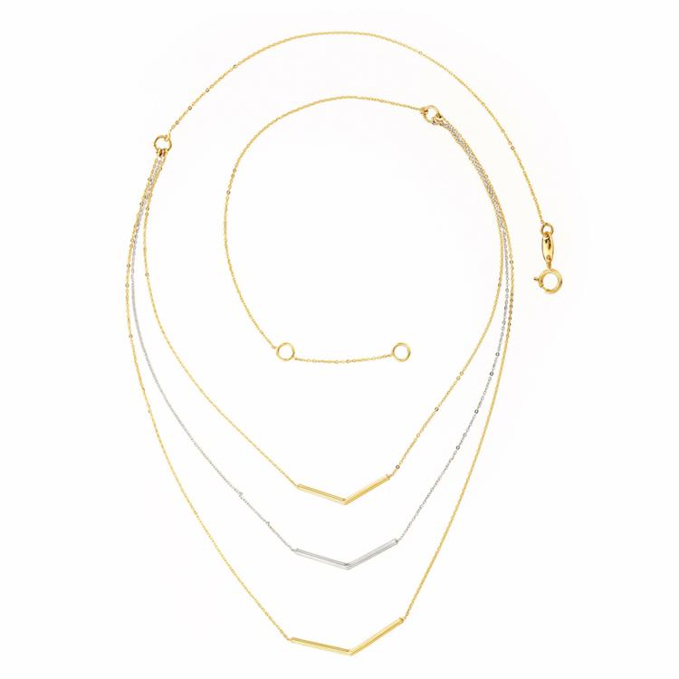 f8817b4a29795a TWO-TONE 10K GOLD NECKLACE – 17'' |… | Bijouteries Lavigueur