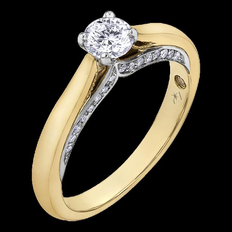 b6420e2c0c9d24 0.55 CARAT DIAMOND RING (SI2-F) | Bague… | Bijouteries Lavigueur
