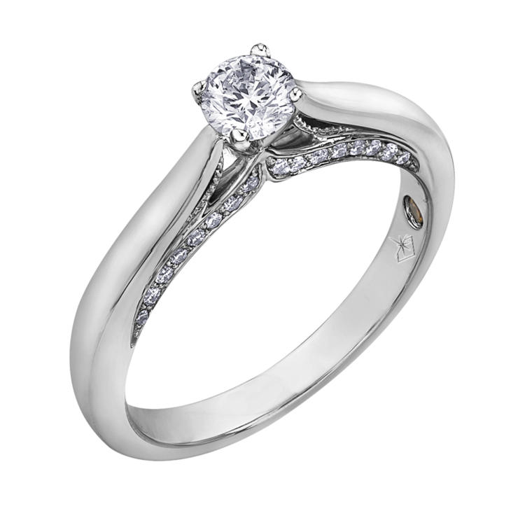 3df68ab0e351aa 0.87 CARAT DIAMOND RING (SI1-G) | Bague… | Bijouteries Lavigueur