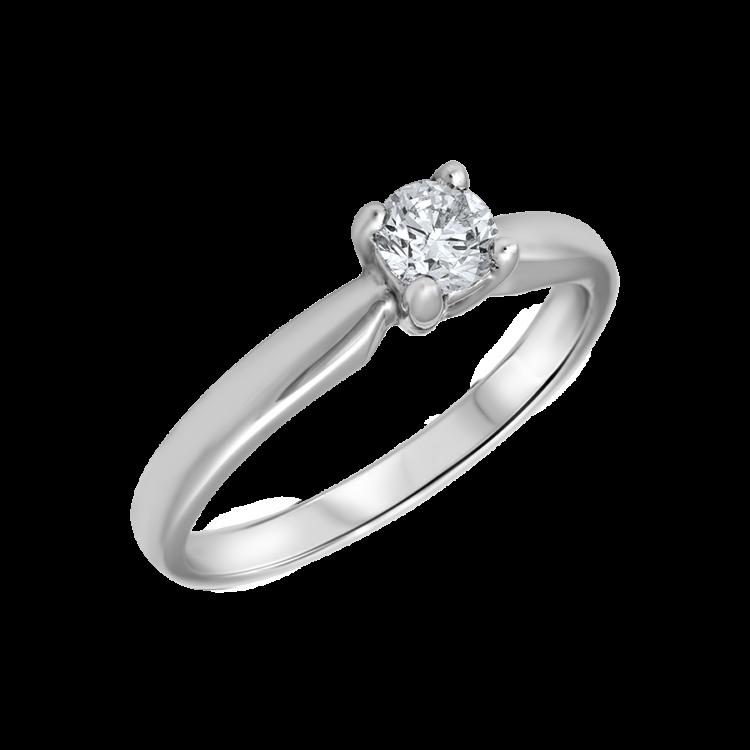 bague solitaire avec diamant